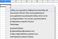 Clipboard History paste menu