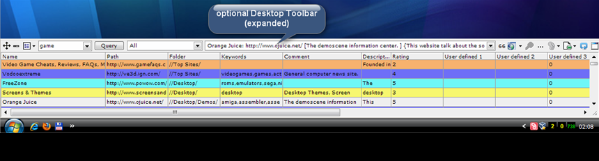 Linkman optional Desktop Toolbar