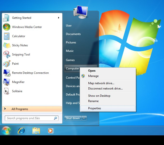 Windows 7 Create Restore Point Step 1