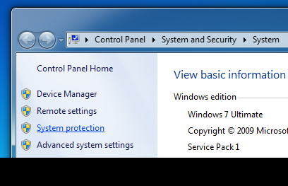 Win 7 Launch System Restore Step 2