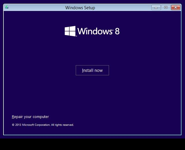 Windows 8 Boot Medium