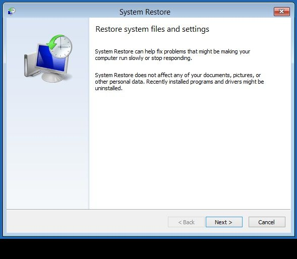 Windows 8 System Restore 1