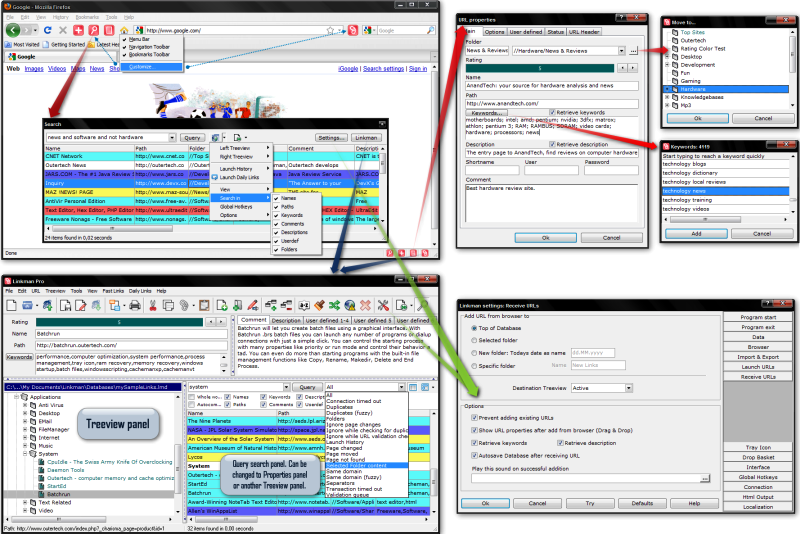 Click to view Linkman Pro 8.32 screenshot